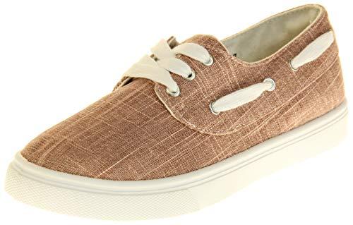 Dunlop Damen Flache Schuhe Zum Schnüren Rosa EU 36