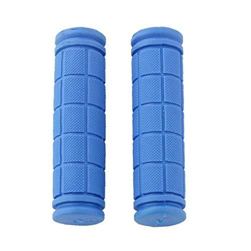 1 Paar Anti-rutsch-weiche Gummilenkergriff-Abdeckung Für Mountainbike Fixie Bike Lenker Blau