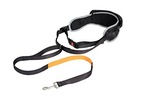 Karlie Canicross Easy, elastische Joggingleine mit Gürtel (gepolstert) (One Size)