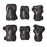 [page_title]-Rollerblade Unisex Jugend Skate Gear JUNIOR 3 Pack Protective, Black/red, XXS