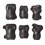 Rollerblade Unisex Jugend Skate Gear JUNIOR 3 Pack Protective, Black/red, XXXS