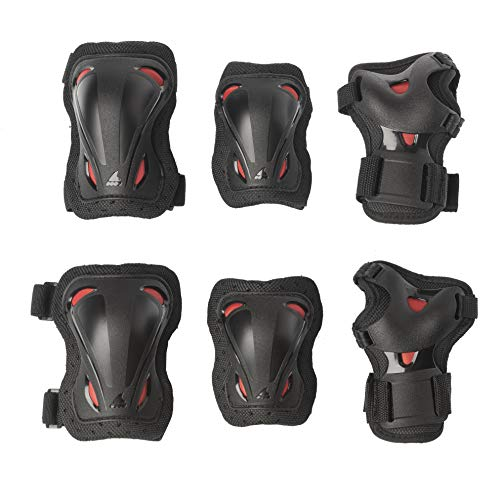 Rollerblade Unisex Jugend Skate Gear JUNIOR 3 Pack Protective, Black/red, XXS