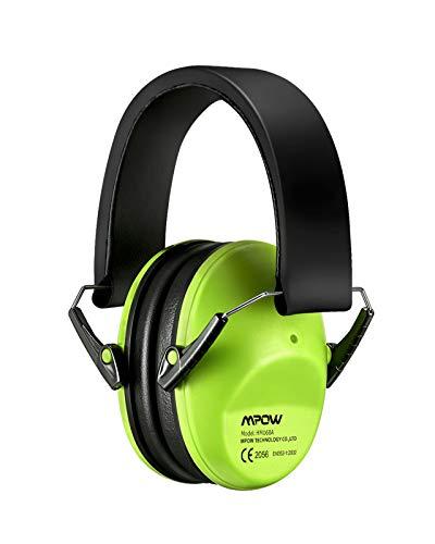 Mpow Kinder Gehörschutz Ohrenschützer Kind mit SNR 29dB Hörschutz Faltbar Komfortabel Kapselgehörschutz kids mit Tragbare Tasche, Lärmschutz Kopfhörer Kinder für Konzert, Kinder von 3 bis 12 Jahren