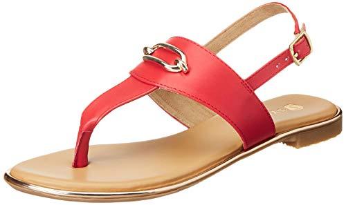 Amazon Brand - Symbol Women Sandal Red 4 (AW20-AM-107)
