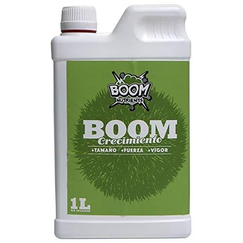 Boom Nutrients | Abono de Crecimiento Interior y Exterior Plantas Fuertes y Grandes | Crecimiento Boom (1L)