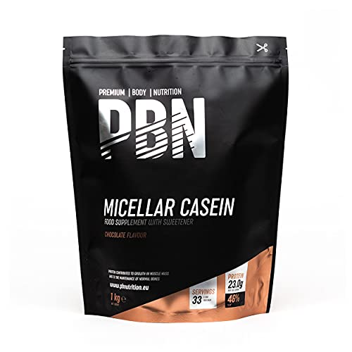 Premium Body Nutrition Mizellares Kasein Protein, Schokolade, 1kg-Beutel