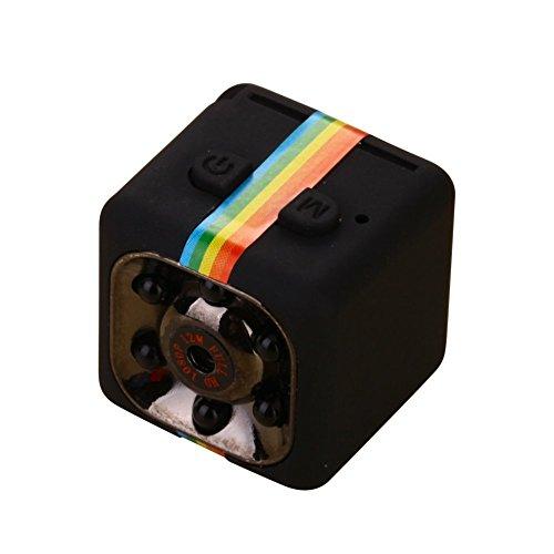 Lanxi® SQ11 Full HD 1080p Mini Coche espía cámara Oculta DV DVR Dash CAM visión Nocturna por Infrarrojos (Negro)