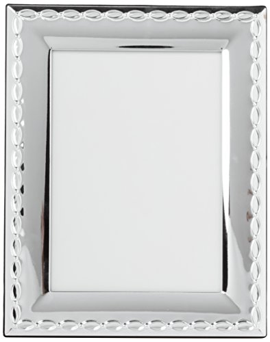 Zep Bordüre Rahmen, Metall, Silber, 19.4 x 24.5 x 2.5 cm