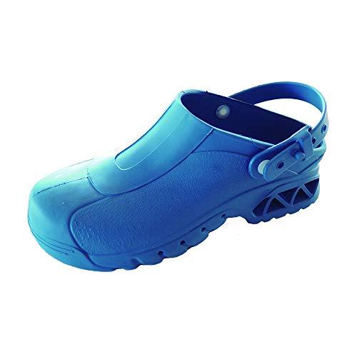 Zuecos Sanitarios de Trabajo RIBE • Zuecos Mujer y Hombre con Suela de Goma Antideslizante • Zapatos para Enfermería Y Hostelería • Talla 40 • Color Azul