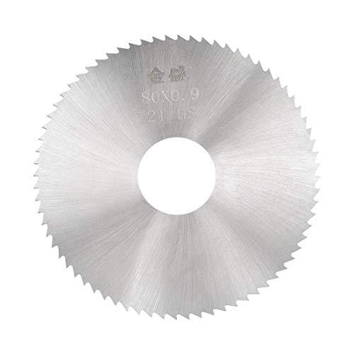Mini hojas de sierra circular 80 x 22 x 0,9 mm, 72 dientes, hoja de corte de disco HSS para madera metálica