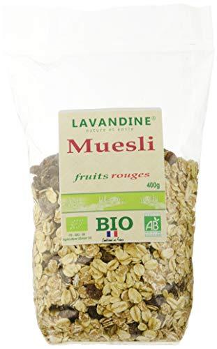 LAVANDINE Muesli Fruits Rouges 400 g - BIO - Lot de 6