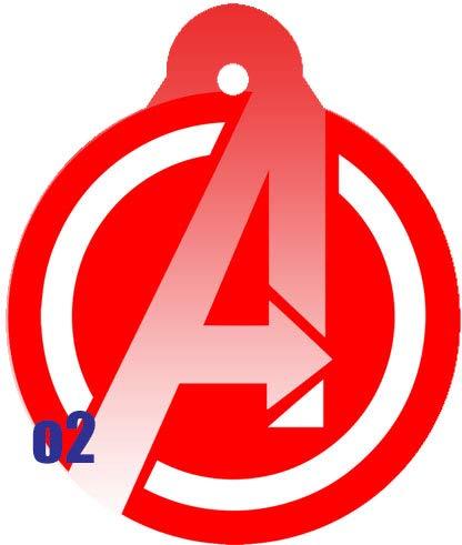 O2 Circle Team Avengers Iron Man Spider-Man Thor Captain America Comic Art Design Custom Logo Dog Pet Cat ID Tag Round Shape Personalized Key Ring (Thor)