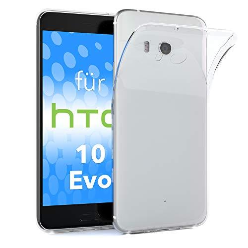 EAZY CASE HTC 10 Evo Schutzhülle Silikon, Ultra dünn, Slimcover, Handyhülle, Silikonhülle, Backcover, Durchsichtig, Klar Transparent