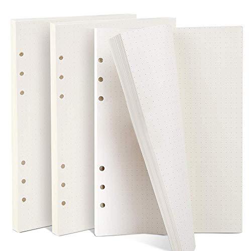 ZKSMNB 3 Packung Gepunktetes Papier (insgesamt 135 Blätter) 6 Löcher Nachfüllpapier Dot Grid Paper A5 für Filofax A5, Notizen, DIY, Bullet Journal, Skizze, Malerei, 8,26 x 5,59 Zoll