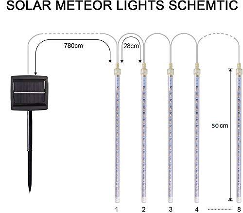 MYJPソーラーLEDイルミネーションライトツラライルミネーションフォールライト屋外防水240LED50CM/本8本セット(ホワイト)