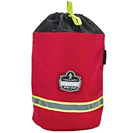Ergodyne - 13081 Arsenal 5080L Fireman's SCBA Respirator Firefighter Mask Bag for air pack with Fleece Lining Red 1 Unmatched Durability - made with heavy duty 1000D polyester to keep your SCBA airmask or other gear clean and dry. Plenty of storage-interior compartment has more than enough room to store your SCBA mask. One Handed Operation - Drawstring closure with hi-vis loop opening for one-handed operation makes accessing your SCBA respirator mask fast and easy
