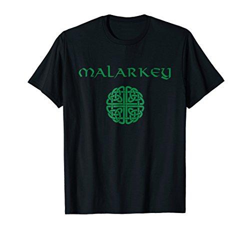 Malarkey Celtic Knot Shield Irish TShirt St Patricks Day
