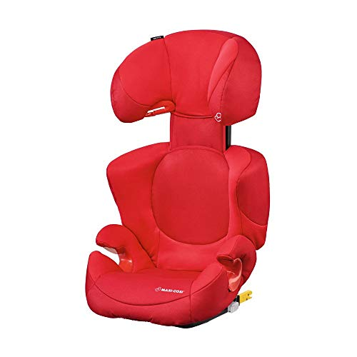 Maxi-Cosi Rodi XP FIX-Kindersitz, ISOFIX Booster-Sitzerhöhung, 3,5 - 12 Jahre, 15 - 36 kg, Poppy Red (rot)