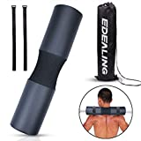 edealing Barbell Pad Squat Pad Weight Pad Support Sponge for Squats, Lunges and Hip Thrusts Neck & Shoulder Protective Pad Fits Standard & Olympic Bars (Black)