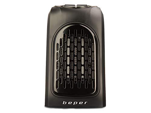 Beper - Pocket Heater, Mini Calentador de Bolsillo para Ambientes Pequeños, Elementos de Cerámica, 2 Velocidades, Temperatura 15° - 32° C, 350 W, Negro