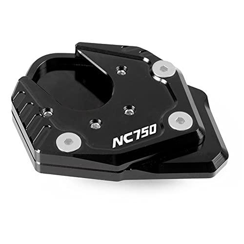 Accesorios para Motocicletas para Honda NC750X NC 750X NC750 X 2017 2018 2019 2019 Aluminio Kickstand Sidestand Stand Extension Ampliar Pad NC750 (Color : Black and Black)