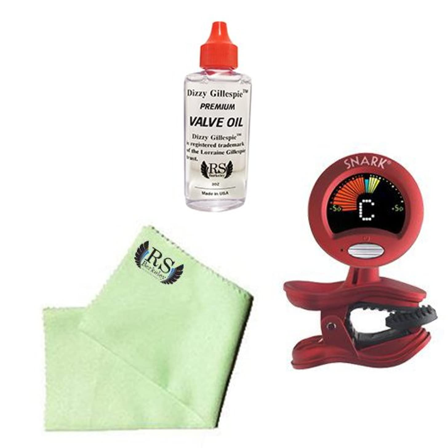 Euphonium Tuner Pack - Snark SN2 All Instrument Tuner/Metronome Includes Bonus RS Berkeley Euphonium Cleaning Cloth & Dizzy Gillespie Valve Oil