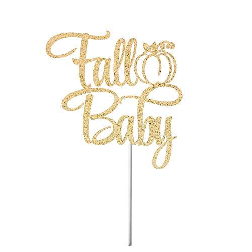 Decoración para tarta de otoño de bebé, decoración para tarta de baby shower, decoración de fiesta de cumpleaños