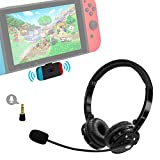 Giveet Wireless Gaming Headset Set w/USB-C Audio Dongle Compatible with Nintendo Switch Lite, Bluetooth Over Ear Headphones w/Rotable Mic for PS4 PC, Plug n Play, 40ms Low Latency, in-Game Voice Chat