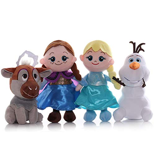 SDFZ FrozenKawaiiAnime Plush Anna AishaBruniLovely Doll Toys Regalo De Cumpleaños Juguetes De Peluche Regalos para Niños 20 ~ 30Cm / 4Pcs