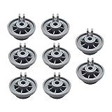 Set de 8 ruedecillas lavavajillas compatibles con Bosch, Neff y Siemens