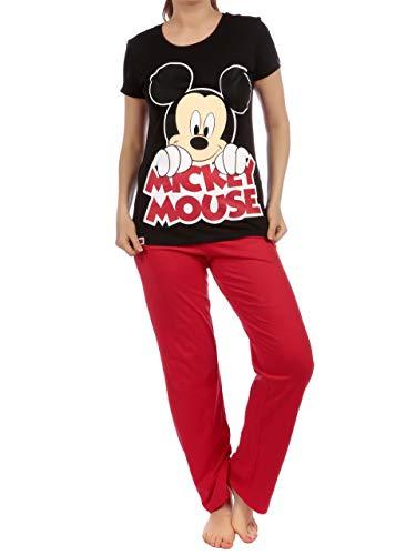 Disney Damen Schlafanzug Mickey Maus Rot XX-Large