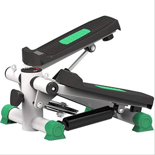 Ejercicio físico Elíptico Twister Stepper: acero de calidad mejorada, entrenamiento fácil debajo del escritorio, pantalla digital, entrenador elíptico de banda de resistencia quema 15% más calorías qu