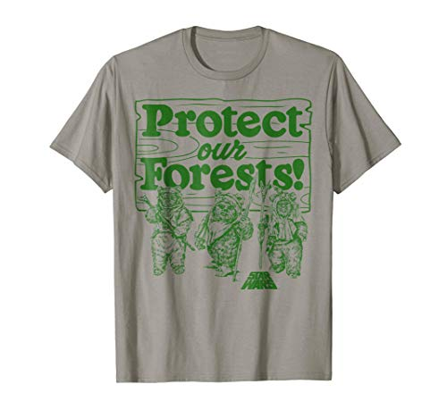 Star Wars Ewoks Protect Our Forests Camp Graphic T-Shirt