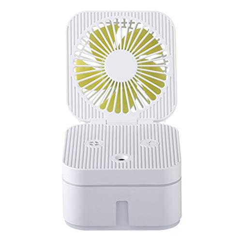USB-Ventilator, Kunt Fan Luchtbevochtiger Kantoor Studentenflat Usb Mini Multi-Functionele Opvouwbare Kleine Ventilator LED-Nachtlampje Watertank Ijsblokjes Toe Te Voegen,A