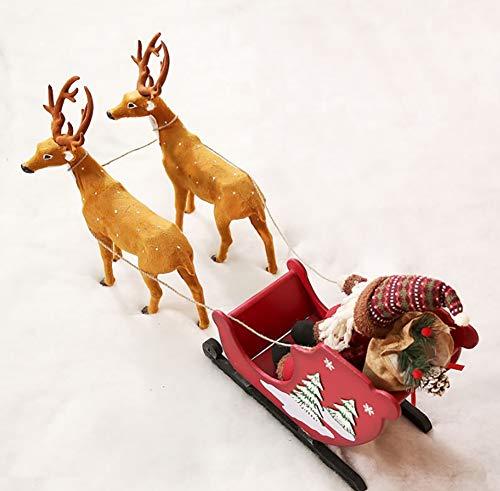 Kerstman Elk Sleigh Car, Houten Kerstversiering, Kleine Thuis Winkelcentrum Raam Arrangement PropsZHFZD