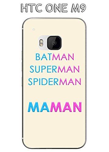 Coque HTC One M9 Design Maman vs Batman