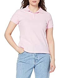 New Fruit Of The Loom Lady-Fit Premium Shirt Women Wear Feminine Fit Polo Shirts Shaped side seams with side vents for a feminine fit Two button narrow placket with self coloured buttons 1 x 1 rib cuffs