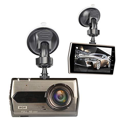 Grabador de conducción de 4 pulgadas, lentes duales 1080P delanteros y traseros, gran apertura F2.0, grabación en bucle de soporte, detección de movimiento, sensor de gravedad, cámara de automóvil (in
