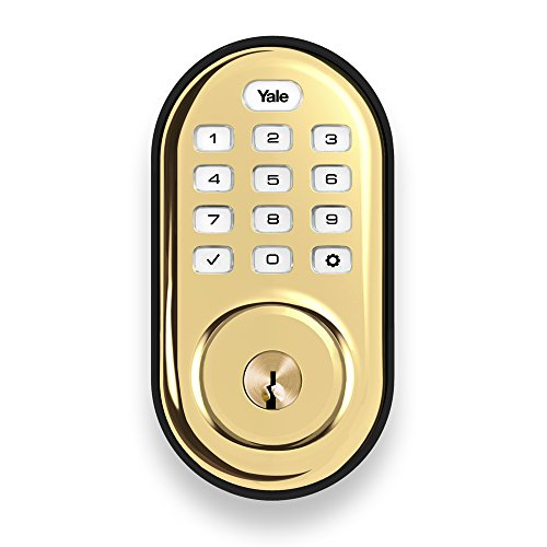 Yale Assure Lock with Z-Wave - Smart  Keypad Deadbolt - Works with Ring Alarm, Samsung SmartThings, Wink, ADT and More - Brass