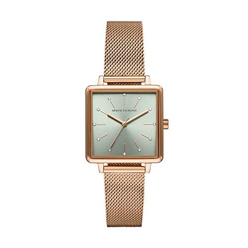 Armani Exchange Reloj Analógico para Señoras de Cuarzo con Correa en Acero Inoxidable AX5806