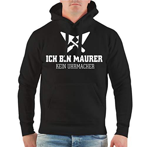 Spaß kostet Männer und Herren Kapuzenpullover Ich Bin Maurer - Kein Uhrmacher Größe S - 8XL