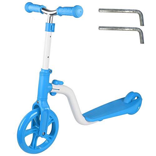 PYMQSM Patinete de 2 Ruedas para niños pequeños, Altura Ajustable 70/75/80cm para niños de 3 a 12 años(Azul)