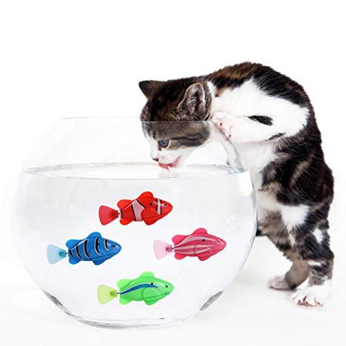 Katze Spielzeug, 4 STÜCKE Elektrische Künstliche Bewegung Fische Katze Necken Spielzeug Kätzchen Spielzeug (Fisch 1)