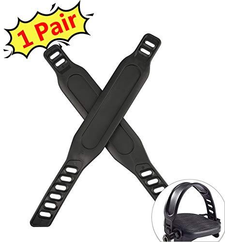 PROZADA Heimtrainer Pedal Straps, Pedal Riemen für Spinning Heimtrainer Fahrrad Heim oder Gym丨Hohe Qualitä丨Einfach einzustellen(1 Pair)