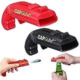 Conruich Abridor de botellas Cap Gun 2 piezas, abrebotellas de pistola, abrebotellas creativo, sacacorchos, divertido en una fiesta en el bar familiar