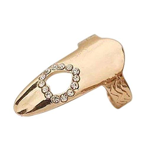 Demarkt Korea Stil New Einstellbare voller Fein Nagel-Ring Nagel Nagelformen