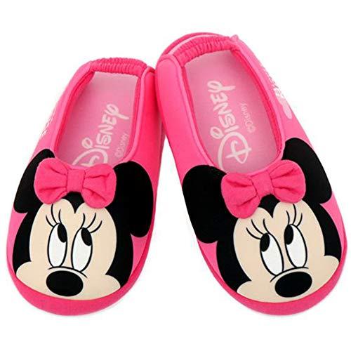 [Joah Shop] ミニーマウス 女の子 子供用 軽量 室内履き キッズ スリッパ ルームシューズ (17.0 cm, ミニーマウス_ピンクリボン) [並行輸入品]