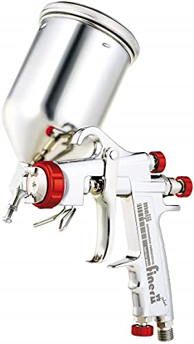 明治 自動車補修専用スプレーガン(450mlカップ付セット) 口径1.4mm FINER2 PLUS+4GF-U