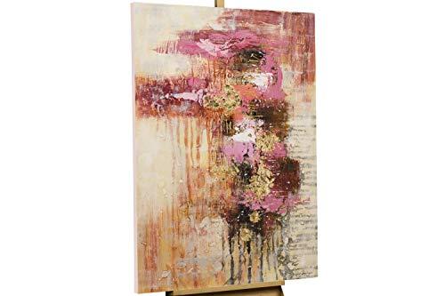 KunstLoft® Acryl Gemälde 'Sweet as Sugar' 80x120cm | original handgemalte Leinwand Bilder XXL | Abstrakt Grau Rosa | Wandbild Acrylbild Moderne Kunst einteilig mit Rahmen
