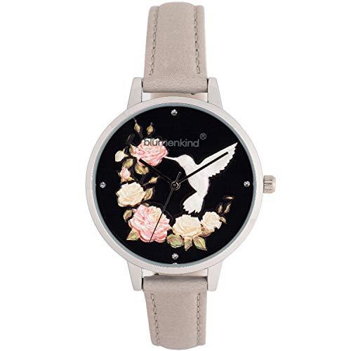Blumenkind Damen-Armbanduhr Woodstock Silberfarben/Hellgrau 15081969SBKPGR